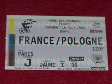 [COLLECTION SPORT FOOT] TICKET FRANCE / POLOGNE 16 AOUT 1995 Qualif EURO 96 UEFA