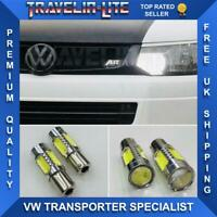 VW T5 T6 Transporter 10 On Led Daytime Running Light Upgrade Bulbs Super Bright