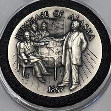 Purchase Alaska 35 Grams Sterling 92.5% Silver Rare Coin Round Collectible .925