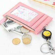 Badge Business Reel Keychain Retractable Reel Coin Purse Credit ID Card Holder