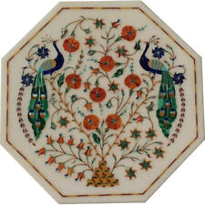 """12""""x12"""" Beautiful Decorative Marble Inlay Table Top Home Decor"""