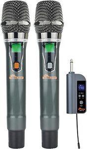 IDOLpro Dual Handheld Wireless Karaoke Rechargeable Microphone Set