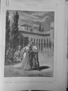 1884 Theatre Italian Aben-Hamet Opera Détroyat Lauzieres Dubois