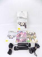 Boxed Nintendo Wii Singing Karaoke Bundle 2x Microphones + 3x Karaoke Games