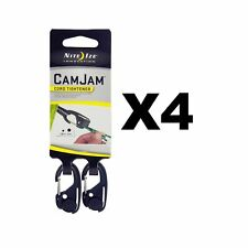 Nite Ize CamJam Mini Cord Tightener Small Compact Durable (4-Pack of 2)