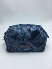 Marc Jacobs Floral Cosmetic Bag Case Pouch Makeup Bag Multi Blue  New NWT