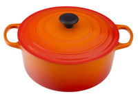 Le Creuset Cast-Iron Round Dutch Oven-(Flame)-5 1/2-Qt-5.5 Qt-Retail $450