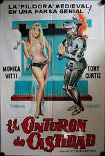 Der Keuschheitsgürtel Filmposter ARGENTINIEN Cintura di castità Tony Curtis