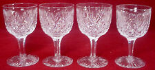 UNKNOWN manufacturer crystal FAN & CROSS HATCH unk8486 WINE GLASS set of 4