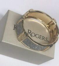 Kim Rogers Gold & Silver Sparkle Clamp Bangle Bracelet
