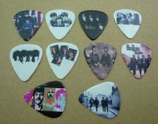 THE BEATLES GUITAR PICKS 10 LOT SET NEW DOUBLE SIDED IMAGE PICTURE FREE SHIPPING