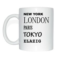 New york, Londres, paris, tokyo, Elazig tasse de café tasse