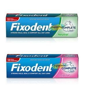 Fixodent Complete Original & Complete Neutral Denture Adhesive 47g