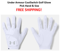 NEW Under Armour CoolSwitch Golf Glove Pick Hand & Size FREE SHIPPING