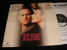 "DISCLOSURE <> MICHAEL DOUGLAS  <> 2X12"" Laserdiscs<>WARNER HOME VIDEO 13575"