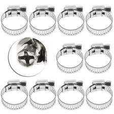 "10pcs/pack 3/8""-5/8"" Stainless Steel Drive Hose Clamp Fuel Line Worm Clip NEW"