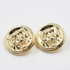 Set 8pc. Metal buttons Gold Head Tiger Sewing accessories Scraft size 23mm