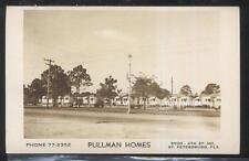 Real Photo Postcard St Petersburg Florida/Fl Pullman Homes Area view 1930's?