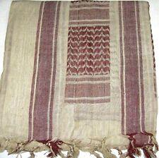 SHEMAGH ARAB SCARF KEFFIYEH FASHION SCARF 100% Cotton KAKI AND BROWN