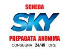 SMART CARD SKY PREPAGATA SKY TV PIU' CINEMA in HD 01 NOVEMBRE 2017