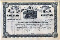 The Erie & Black Rock Railroad Company Stock Certificate New York
