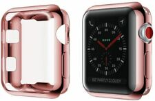 Apple Watch Pink Silicone Case Complete Protection for Series 3,2,1, 42mm