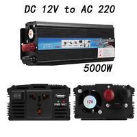 Auto 5000W Power Inverter DC12V AC220V Wechselrichter Spannungswandler Camping