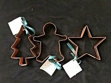New listing Fox Run Copper Cookie Cutters, Set of 3, Large, Nwt