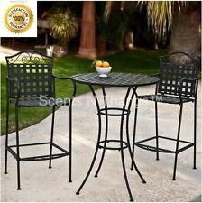 Tall Bistro Set Bar Height Outdoor Wrought Iron Deck Porch Pub Table Chairs NEW