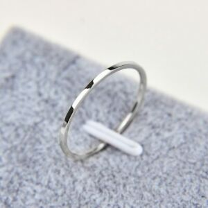1MM Thin Titanium Steel Silver Couple Ring Simple Fashion Finger Rings Gifts