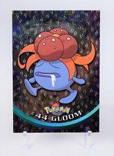 Rare Topps Pokemon TV Animation Series 1 - Foil 3rd Printing #44 Gloom Gem +