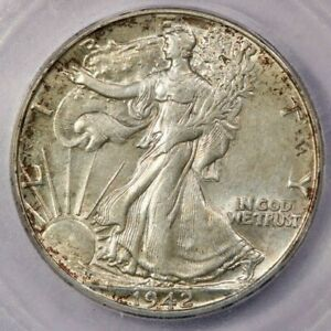 1942-P 1942 Walking Liberty Half Dollar ICG AU58