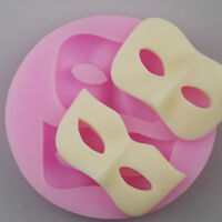 3D Mask Silicone Fondant Mould Cake Decor Chocolate Baking Mold Sugarcraft 1Pcs
