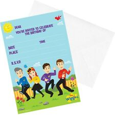 THE WIGGLES BIRTHDAY PARTY SUPPLIES INVITATIONS INVITES (PACK OF 8)