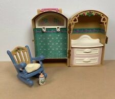 Vintage Fisher Price Briarberry Berrylouise Wardrobe Case Drawers Rocking Chair