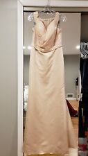 Alexia Designs bridesmaid gown dress nude size 8 10