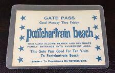 PONTCHARTRAIN BEACH NEW ORLEANS GATE PASS TICKET STUB VINTAGE OLD BALI HAI RARE