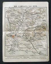 Antica Topografica,CAMPAGNA.ROMA- DINTORNI.1912.MEYERS