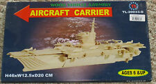 NEW CRAFT WOOD MODEL/PUZZLE AIRCRAFT CARRIER BOAT