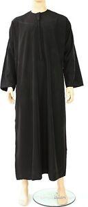 Thobe, Jubba, Mens Omani Black Arab Robe, dishdash Islamic Mens Clothing. 54-62