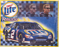 Rusty Wallace 2002 Miller Lite racing promotional picture signature card Ford #2