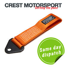 TRS Fixed Tow Eye Strap/Loop ORANGE (MSA Compliant) Race/Rally/Competition Car