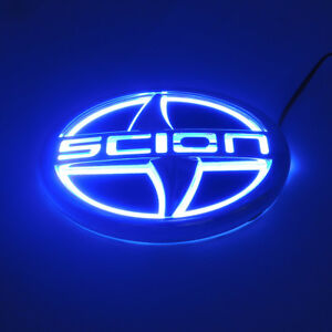 (12.5X8.5CM) Sport 5D LED Car Tail Rear Logo Light Badge Lamp Emblem For Scion