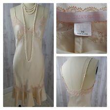 Vintage VICTORIAS SECRET~Ivory Silk Nightgown Negligee Lace Babydoll Peignoir XS
