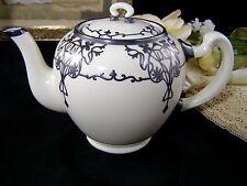 Antique Lenox Belleek Teapot With Silver Overlay