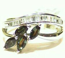 Vintage 1.12CT 18K Gold Natural Diamond Alexandrite Engagement Ring Certified