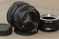 Helios-44m 58mm f./ 2 Helios 44m M42 Lens + adapter Sony E NEX (for E-mount)