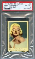 1957 Dutch Big Number Gum Card #99 MARILYN MONROE Bus Stop Actress PSA 8