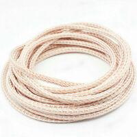 12TC PTFE OCC HIFI Speaker Cable HIFI Audio Wire Power Cord DIY 24 Strands Braid