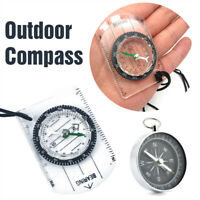 Scouts Military Compass Scale Ruler Base Plate Mini Compass For Camping Hiking F